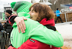 Winner Peter Prevc (SLO) with his mother Julijana Prevc after the Ski Flying Hill Individual Competition at Day 1 of FIS Ski Jumping World Cup Final 2016, on March 17, 2016 in Planica, Slovenia. Photo by Vid Ponikvar / Sportida