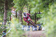 Loris Revelli during his race tun at the UCI Mountain Bike World Cup in Fort William.