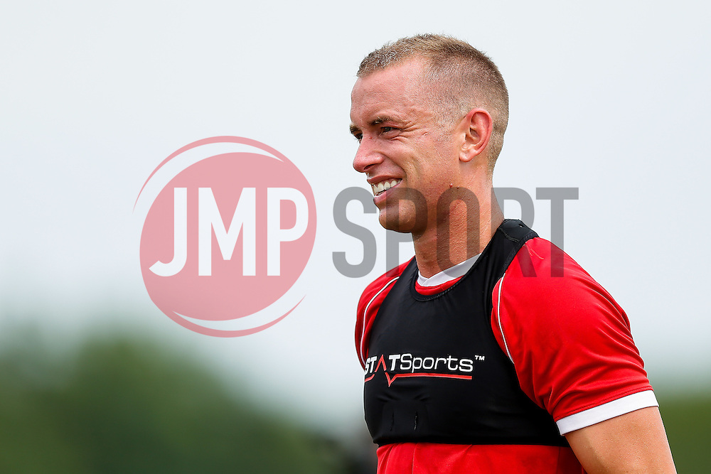 Aaron Wilbraham looks on as Bristol City return to training ahead of their 2015/16 Sky Bet Championship campaign - Photo mandatory by-line: Rogan Thomson/JMP - 07966 386802 - 01/07/2015 - SPORT - Football- Bristol, England - Failand Training Ground - Sky Bet Championship.