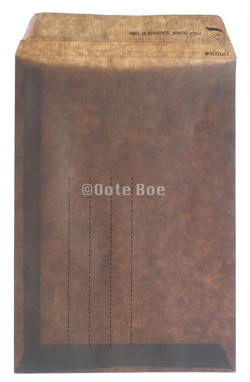an open brown paper envelope