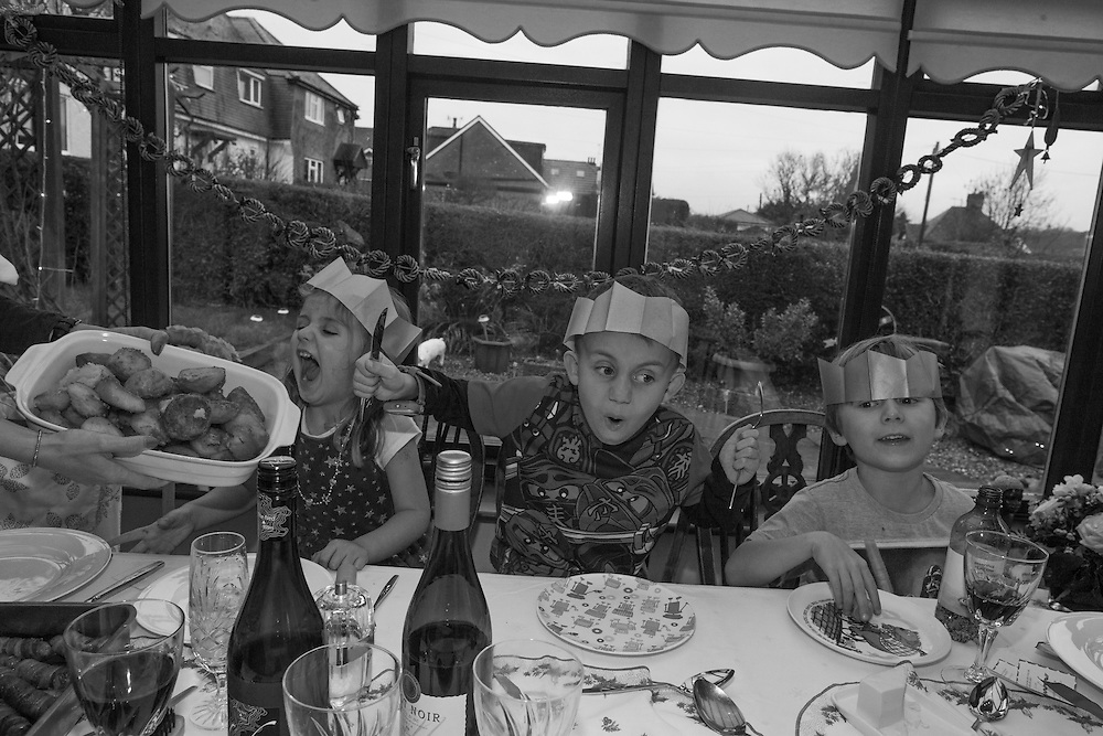 Emily, Daniel and Ben prepare for Christmas dinner at Gran's home in England  Friday, Dec. 25, 2015 (Elizabeth Dalziel) #thesecretlifeofmothers #bringinguptheboys #dailylife