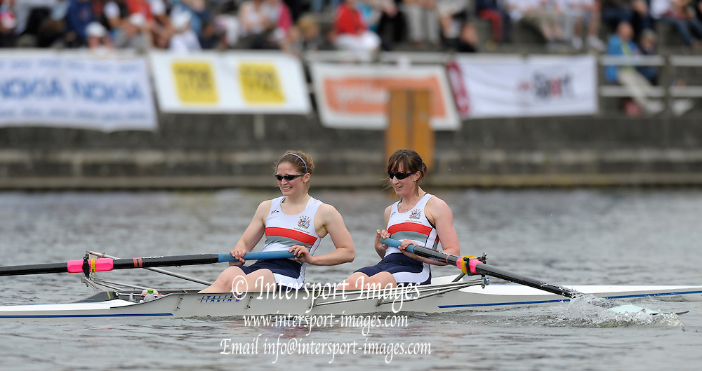 Gent, BELGIUM,   Belfasts RC. Women's pair W2- , competing in the Women's Quads, at the International Belgian Rowing Championships, Saturday 09/05/2009, [Mandatory Credit. Peter Spurrier/Intersport Images]