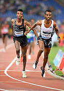 Selemon Barega (ETH), left, and Hagos Gebrhiwet (ETH) place second and third in the 5,000m in 12:53.04 and 12:54.92during the 39th Golden Gala Pietro Menena in an IAAF Diamond League meet at Stadio Olimpico in Rome on Thursday, June 6, 2019. (Jiro Mochizuki/Image of Sport)