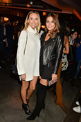 Left to right, BECKY CISSELL and CHLOE LEWIS at a party to celebrate the opening of 100 Wardour Street, Soho, London on 28th January 2016.