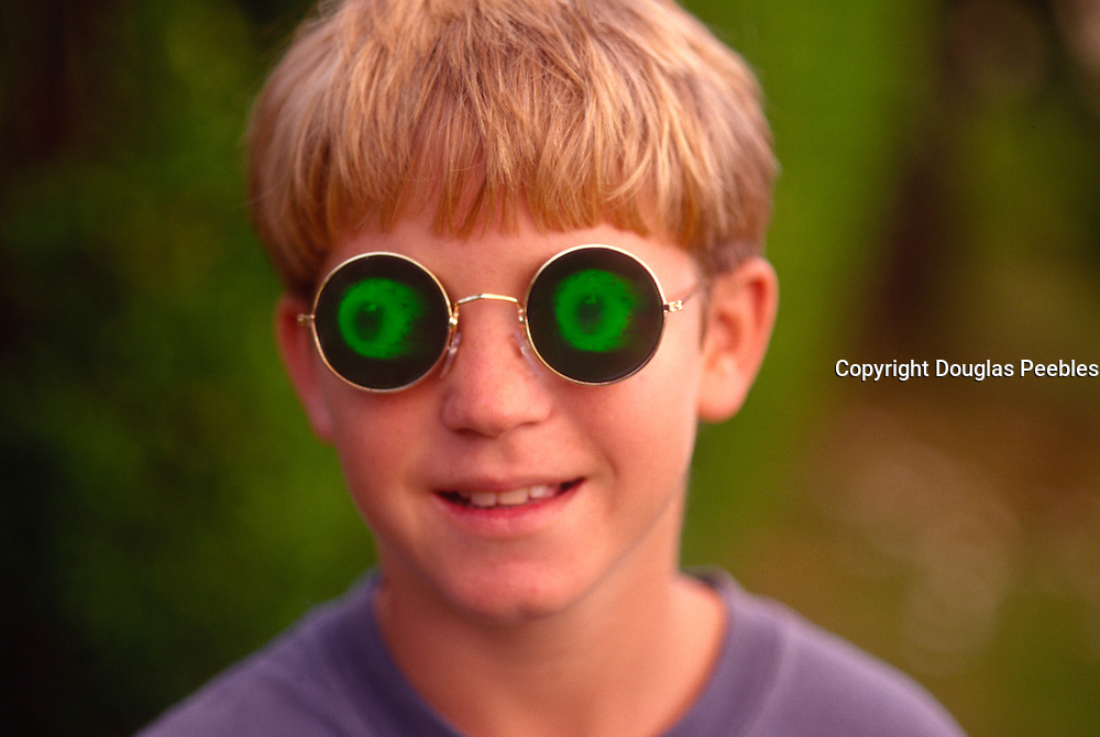 Boy with odd glasses<br />