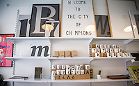 Copenhagen, Denmark- JULY 25, 2014: Great design is one of the hallmarks of Danish culture and at the Playtype Concept Store, customers can purchase posters, mugs and laptop cases featuring typefaces from the foundry's portfolio. CREDIT: Chris Carmichael for The New York Times