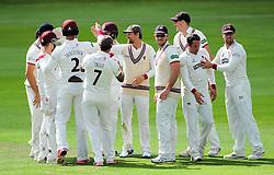 Somerset celebrate the wicket of Mark Stoneman.  - Mandatory by-line: Alex Davidson/JMP - 04/08/2016 - CRICKET - The Cooper Associates County Ground - Taunton, United Kingdom - Somerset v Durham - County Championship