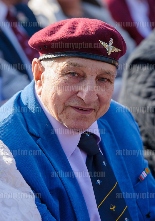20140921       Copyright image 2014&copy;<br />  ,Daily Telegraph,  Daily Telegraph,<br /> Pte. Steve Morgan, 2 Para, the last man off the Bridge at Oosterbeek Cemetery  Military  as part of the Arnhem 70th Anniversary Celebrations<br /> <br /> For photographic enquiries please call Anthony Upton 07973 830 517 or email info@anthonyupton.com <br /> This image is copyright Anthony Upton 2014&copy;.<br /> This image has been supplied by Anthony Upton and must be credited Anthony Upton. The author is asserting his full Moral rights in relation to the publication of this image. All rights reserved. Rights for onward transmission of any image or file is not granted or implied. Changing or deleting Copyright information is illegal as specified in the Copyright, Design and Patents Act 1988. If you are in any way unsure of your right to publish this image please contact Anthony Upton on +44(0)7973 830 517 or email: