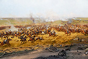 details of the painting of the Battle of Borodino (Battle of Moscow), 7th September 1812, by Louis-François Lejeune, 1822