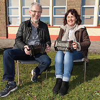 Noel Hill and Jacqueline McCarthy, two concertina instructors at the Concertina Festival in Miltown Malbay