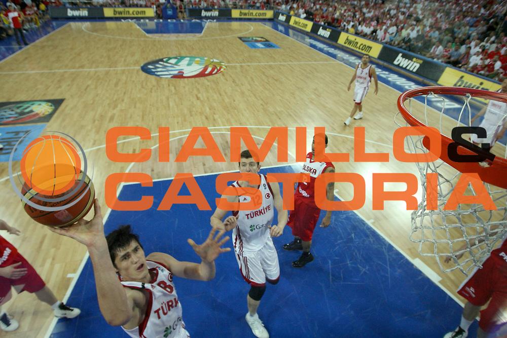 DESCRIZIONE : Wroclaw Poland Polonia Eurobasket Men 2009 Preliminary Round  Polonia Turchia Poland Turkey<br /> GIOCATORE : Ersan Ilyasova<br /> SQUADRA : Turchia Turkey<br /> EVENTO : Eurobasket Men 2009<br /> GARA : Polonia Turchia Poland Turkey<br /> DATA : 09/09/2009 <br /> CATEGORIA : tiro special<br /> SPORT : Pallacanestro <br /> AUTORE : Agenzia Ciamillo-Castoria/M.Kulbis