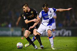 Ollie Clarke of Bristol Rovers tackles Callum Elder of Wigan Athletic - Mandatory by-line: Dougie Allward/JMP - 24/04/2018 - FOOTBALL - Memorial Stadium - Bristol, England - Bristol Rovers v Wigan Athletic - Sky Bet League One