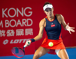 October 12, 2018 - Hong Kong, China - Wang Qiang of China in action against E. Svitolina of the Ukraine in the quarter finals of the  Hong Kong Tennis Open in Victoria Park Hong Kong. (Credit Image: © Jayne Russell/ZUMA Wire)