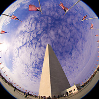Enjoying the view of the Washington Monument from a slightly different perspective