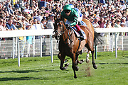 FOREST OF DEAN (8) ridden by Frankie Dettori and trained by John Gosden winning The Sky Bet Handicap Stakes over 1m 2f (£70,000) during the Ebor Festival at York Racecourse, York, United Kingdom on 24 August 2019.