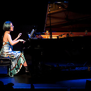 November 4, 2012 - New York, NY : The pianist Jenny Q Chai performs a piece by American composer John Milton Cage Jr. at (Le) Poisson Rouge in Manhattan on Sunday evening. CREDIT: Karsten Moran for The New York Times