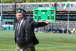 May 5, 2013; Bronx, NY; USA; Leitrim and New York are led onto the field before their game at Gaelic Park.