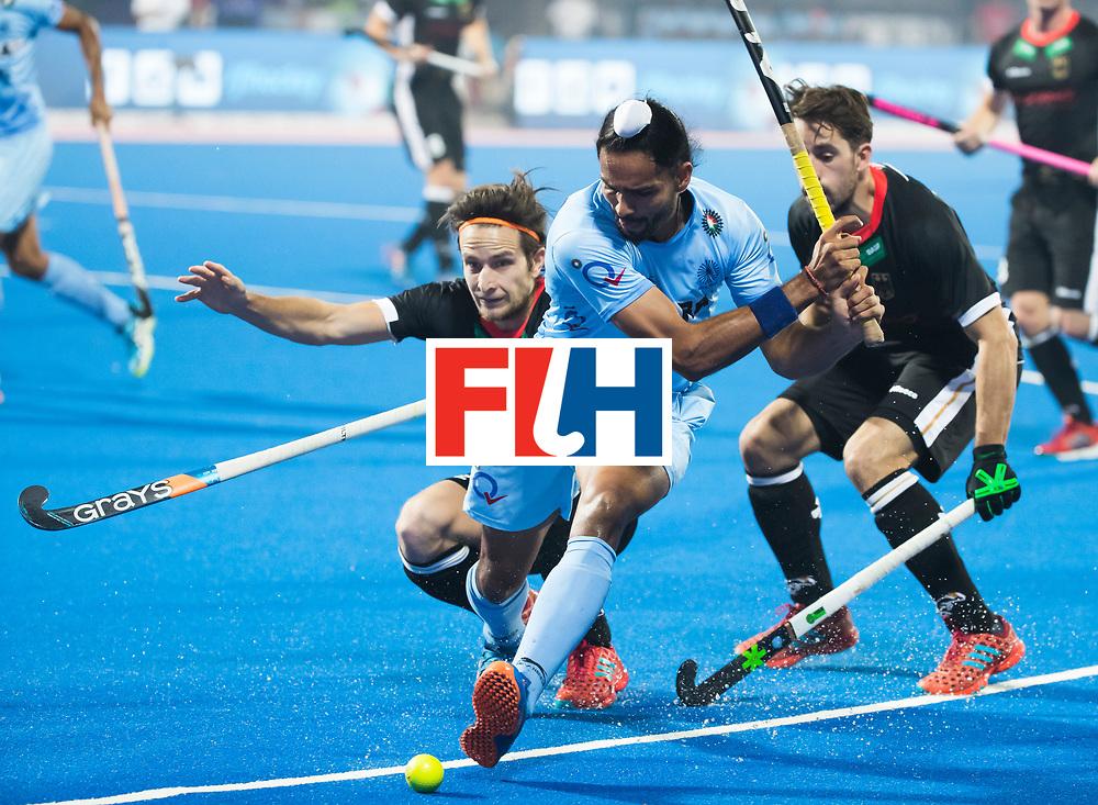 BHUBANESWAR - The Odisha Men's Hockey World League Final . Akashdeep Singh (Ind) during  the match India v Germany. WORLDSPORTPICS COPYRIGHT  KOEN SUYK