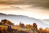 Misty autumn morining in Rhodope Mountains