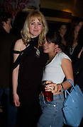 Phillipa Horan and Lilly allan, Cheap Date magazine party to celebrate their 10th issue. Sponsored by Jigsaw. Cafe de Paris. 16 February 2004. ONE TIME USE ONLY - DO NOT ARCHIVE  © Copyright Photograph by Dafydd Jones 66 Stockwell Park Rd. London SW9 0DA Tel 020 7733 0108 www.dafjones.com