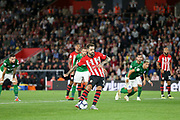 GOAL - 2-0 Southampton striker Danny Ings (9) shoots and scores from the penalty spot during the Premier League match between Southampton and Brighton and Hove Albion at the St Mary's Stadium, Southampton, England on 17 September 2018.