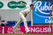 Morne Morkel of Surrey opens the bowling for Surrey during the Specsavers County Champ Div 1 match between Surrey County Cricket Club and Warwickshire County Cricket Club at the Kia Oval, Kennington, United Kingdom on 23 June 2019.
