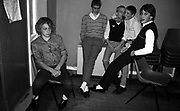 Boys drinking at Dean's engagement. UK, 1980s.