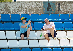 OSIJEK, CROATIA - Friday, June 7, 2019: Wales supporters watch a training session at Stadion Gradski vrt ahead of the UEFA Euro 2020 Qualifying Group E match against Croatia. (Pic by David Rawcliffe/Propaganda)