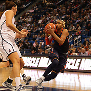 Elashier Hall, Syracuse, in action during the Connecticut V Syracuse Semi Final match during the Big East Conference, 2013 Women's Basketball Championships at the XL Center, Hartford, Connecticut, USA. 11th March. Photo Tim Clayton