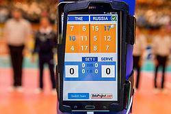 02-04-2017 NED:  CEV U18 Europees Kampioenschap vrouwen dag 2, Arnhem<br /> Nederland - Rusland 3-0 / iPad, item technologie scheidsrechter