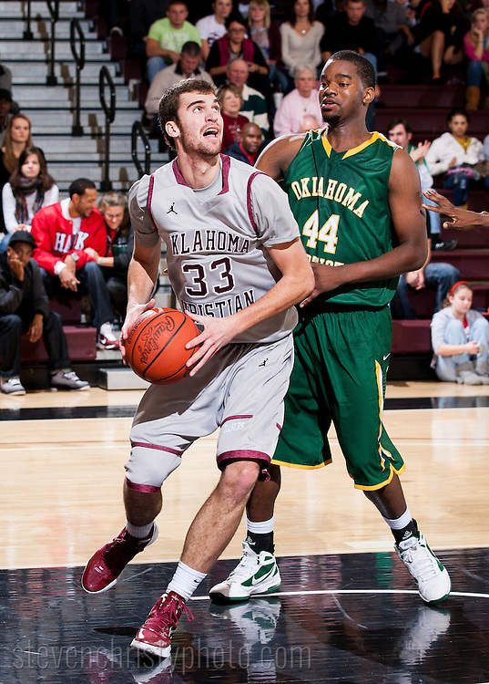 December 3, 2011: The Oklahoma Baptist University Bison play against the Oklahoma Christian University Eagles at the Eagles Nest on the campus of Oklahoma Christian University.