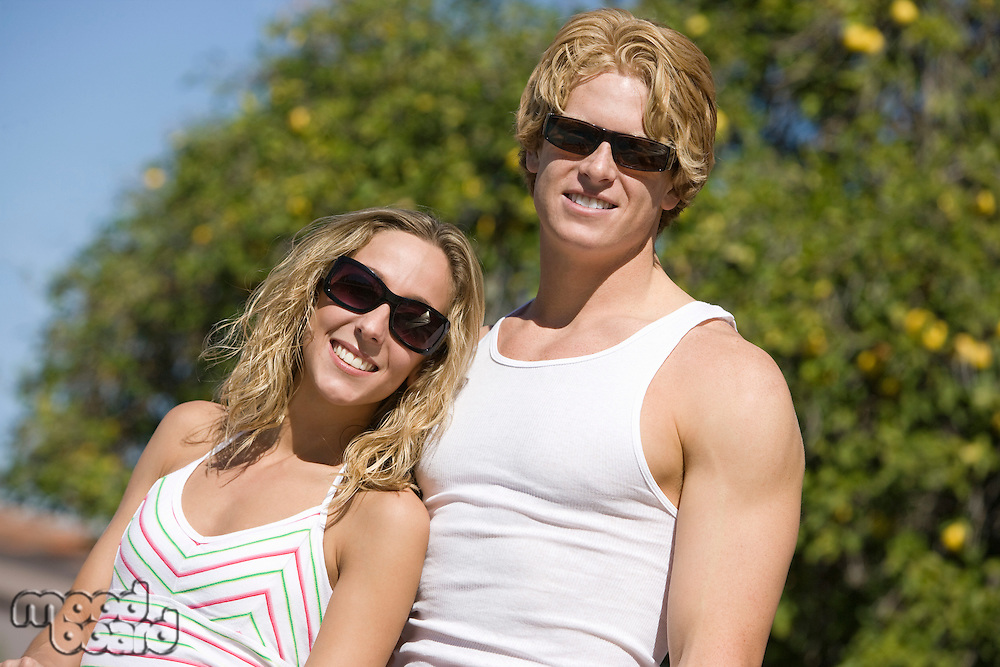 Young Couple Outdoors, Portrait