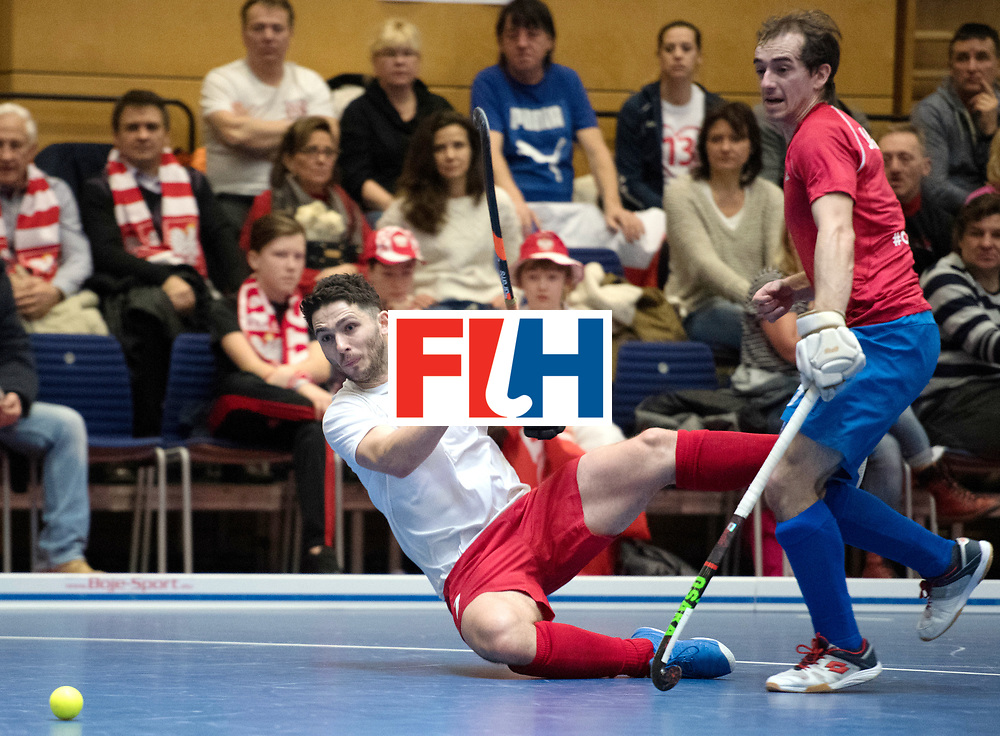 BERLIN - Indoor Hockey World Cup<br /> Czech Republic - Poland<br /> foto: Tomasz G&oacute;rny <br /> WORLDSPORTPICS COPYRIGHT FRANK UIJLENBROEK