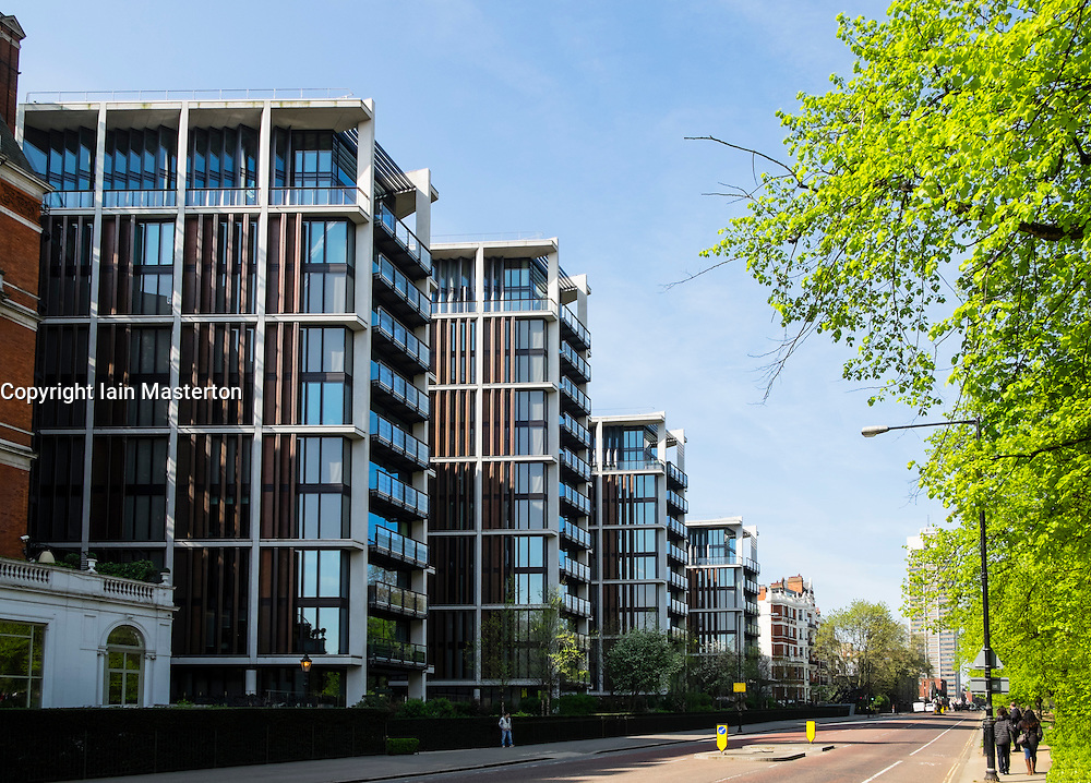 One Hyde Park apartment buildings in Kensington London United Kingdom