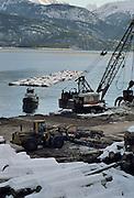 Sawmill, Barge, Logs, Logging, Skidder, Crane, Loader, Lutak Inlet, Haines, Alaska
