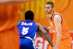 Miroslav Pasajlic of KK Helios Suns during basketball match between KK Helios Suns and KK Rogaska in ABA League Second division, on October 31, 2018 in Sports hall Domzale, Domzale, Slovenia. Photo by Urban Urbanc / Sportida