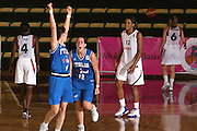 DESCRIZIONE : Chieti U20 European Championship Women Preliminary Round France Italy<br /> GIOCATORE : Chiara Consolini Martina Sandri<br /> SQUADRA : Italy <br /> EVENTO : Chieti U20 European Championship Women Preliminary Round France Italy Campionato Europeo Femminile Under 20 Preliminari Francia Italia <br /> GARA : Italy Latvia <br /> DATA : 11/07/2008 <br /> CATEGORIA : esultanza<br /> SPORT : Pallacanestro <br /> AUTORE : Agenzia Ciamillo-Castoria/M.Marchi<br /> Galleria : Europeo Under 20 Femminile <br /> Fotonotizia : Chieti U20 European Championship Women Preliminary Round France Italy <br /> Predefinita : si