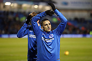 Brighton & Hove Albion winger Anthony Knockaert (11) applauds, claps the fans during the warm up before the EFL Sky Bet Championship match between Brighton and Hove Albion and Newcastle United at the American Express Community Stadium, Brighton and Hove, England on 28 February 2017.