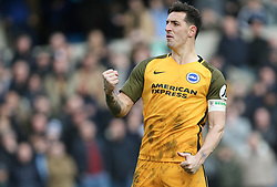 Lewis Dunk of Brighton and Hove Albion celebrates after scoring his penalty - Mandatory by-line: Arron Gent/JMP - 17/03/2019 - FOOTBALL - The Den - London, England - Millwall v Brighton and Hove Albion - Emirates FA Cup Quarter Final