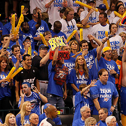 Jun 14, 2012; Oklahoma City, OK, USA;  Oklahoma City Thunder fans cheer during the third quarter of game two in the 2012 NBA Finals against the Miami Heat at Chesapeake Energy Arena. Mandatory Credit: Derick E. Hingle-US PRESSWIRE