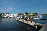 Henley. Great Britain. General View, of the course, crews training for the start of the Regatta on July 2nd. 175th  Henley Royal Regatta, Henley Reach. England. 09:41:27  Tuesday  01/07/2014. [Mandatory Credit; Peter Spurrier/Intersport-images]