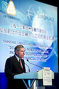 GDF Suez CEO and Paris Europlace Chairman Gerard Mestrallet makes the opening address at Shanghai / Paris Europlace Financial Forum, in Shanghai, China, on December 1, 2010. Photo by Lucas Schifres/Pictobank