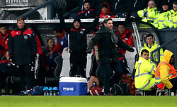 An animated Bristol City head coach Lee Johnson looks frustrated - Mandatory by-line: Robbie Stephenson/JMP - 11/02/2017 - FOOTBALL - iPro Stadium - Derby, England - Derby County v Bristol City - Sky Bet Championship