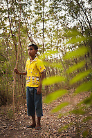 YOK, age 16, is born with HIV. He lives together with other HIV Teenager and children in a village near Lopburi.