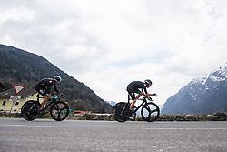 16.04.2013, Lavanterstrasse, Doelsach, AUT, Giro del Trentino, Teamzeitfahren, im Bild Team Sky Procycling Bradley Wiggins // during Team time Race, of the Giro del Trentino at the Lavanterstrasse, Doelsach, , Austria on 2013/04/16. EXPA Pictures © 2013, PhotoCredit: EXPA/ Johann Groder