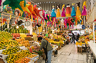 Colorful Main Market in Puebla Mexico