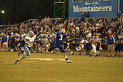 Travis Warren hauled in this pass with his fingertips for his second touchdown of the night.   October/1/10:  MCHS Varsity Football vs Page.  Homecoming.  Madison defeats Page 28-7.  Jordan Aylor crowned 2010 Homecoming Queen.