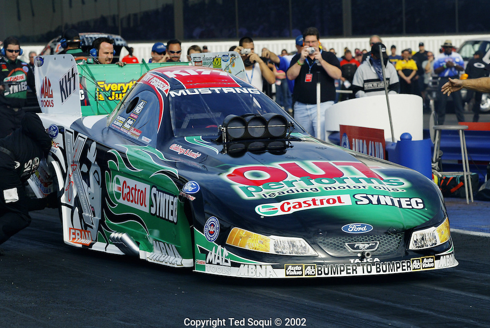 Tony Pedregon's Funny Car..Pomona International Raceway, Pomona, CA.11/8/03.Photo by Ted Soqui c 2003