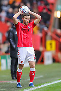 Charlton Athletic defender Adam Matthews (2) takes a throw in during the EFL Sky Bet Championship match between Charlton Athletic and Blackburn Rovers at The Valley, London, England on 15 February 2020.