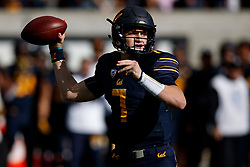 BERKELEY, CA - DECEMBER 01: Quarterback Chase Garbers #7 of the California Golden Bears passes against the Stanford Cardinal during the first quarter at California Memorial Stadium on December 1, 2018 in Berkeley, California. (Photo by Jason O. Watson/Getty Images) *** Local Caption *** Chase Garbers